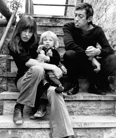Jane Birkin, Kate Barry, John Barry, Serge Gainsbourg
