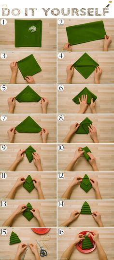 44 Ideas Origami Diy Decoration Napkin Folding For 2019 44 Ide . 44 Ideas Origami Diy Decoration Napkin Folding For 2019 44 Ideas Origami Diy Deco Christmas Tree Napkins, Christmas Table Settings, Christmas Table Decorations, Christmas Holidays, Tree Decorations, Napkin Folding, Napkin Origami, Origami Folding, Diy Origami