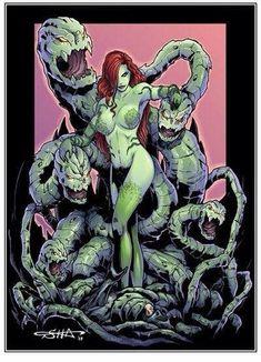 Poison Ivy vs Batman by Killersha on DeviantArt Dc Poison Ivy, Poison Ivy Dc Comics, Poison Ivy Cosplay, Poison Ivy Batman, Poison Ivy Comic, Catwoman Comic, Superhero Cosplay, Batman Universe, Dc Universe