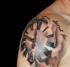Tattoo Staytruephx Com Wp Content Gallery Rob Clock Jpg Tagged Watch Tattoos, Great Tattoos, I Tattoo, Tattoo Clock, Tattoo Inspiration, Tatting, Body Art, Piercings, Ink