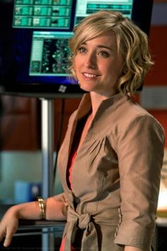 actress Allison Mack/ Chloe Sullivan Smallville - great actress & Love her style and this top : )