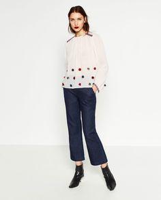 Image 1 of POMPOM TOP from Zara