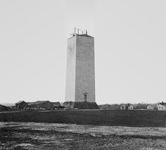 Top Halted Construction on The Washington Monument - Old Photo Archive - Vintage Photos and Historical Photos Old Photos, Vintage Photos, World Famous Buildings, Famous Landmarks, Rare Historical Photos, Gateway Arch, Paris Eiffel Tower, World Trade Center, Under Construction
