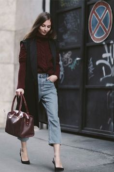 cropped jeans & sweaters