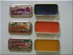 Does anyone remember these -- in the little metal containers?