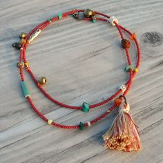 long hippy, cool necklace