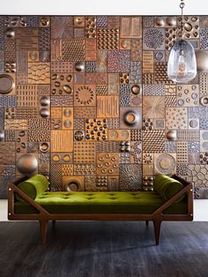 Eyecatching Pamela Sunday piece graces the entry of the new Studio van den Akker showroom. Midcentury modern–inspired furniture fills Studio Van den Akker's new showroom in New York's D&D Building Interior Walls, Interior Design, Wall Panel Design, Ceramic Wall Art, Wall Finishes, Paperclay, Wall Cladding, Wall Treatments, Wall Sculptures