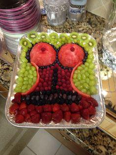 Corset fruit tray for bridal shower #bridalshowergifts