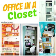 Repurpose a closet in to a home office via I'm an Organizing Junkie