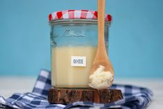 It's easier than you think to make ghee at home. All you need is unsalted butter, a heatproof jar and a muslin/gauze/cheesecloth to make homemade ghee. Melted Butter, My New Roots, Making Ghee, Cheesecloth, Create A Recipe, How To Make Homemade, Unsalted Butter, What To Cook