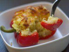 Mashed Potato Stuffed Bell Peppers