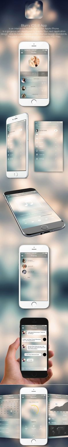 Blurry IOS8 Mobile App Ui