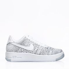 check out ac68b be555 Nike Sportswear Skor - Air Force 1 Flyknit Low White White Black