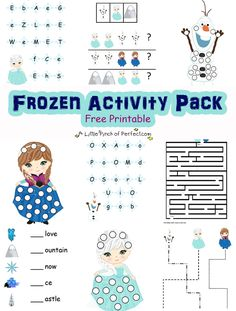 Disney Frozen Inspired Free Printable Activity Pack -
