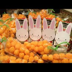 Bunny Juice Boxes and Cheese Puff Carrots...cute idea for the kiddos