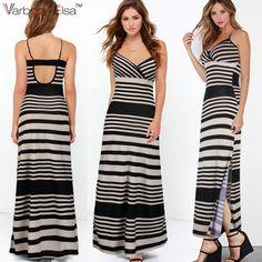 Cheap Dresses, Blue Dresses, Summer Dresses, Maxi Dresses, Bohemia Dress, Suspenders For Women, Suspender Dress, Dress Codes, Striped Dress