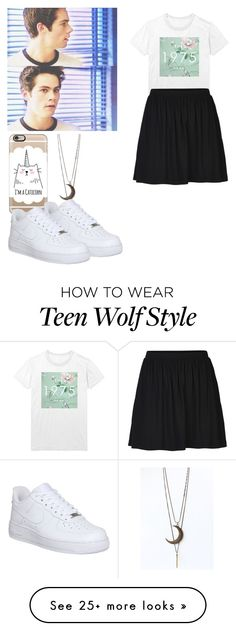 """""""Stiles Stilinski - tw / teen wolf"""" by shadyannon on Polyvore featuring INDIE HAIR, Casetify, ONLY and NIKE"""