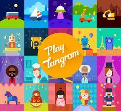 Artwork Inspiration  #PlayTangram #Colorful #Modern #Minimal #Puzzle #Learning #Flat #ios #iphone #Toy #Children #Illustration