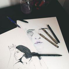 ☁️☁️☁️. #watercolor #illustration #inktober #inkdrawing #drawing #art #artwork #artist #myart #wip #artistoninstagram #sketch