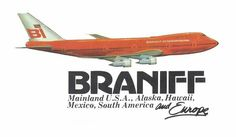 Braniff International B747 advert