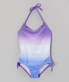 Look what I found on #zulily! Purple Ombré Halter One-Piece by Beach Native #zulilyfinds