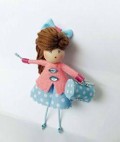Brooch doll Sheila  Jewelry