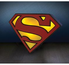 Superman Lampe Logo. Hier bei www.closeup.de