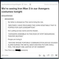 This is the best! So funny Marvel Dc, Marvel Funny, Marvel Memes, Avengers Memes, Marvel Universe, Geeks, Avengers Costumes, Thor Costume, Fangirl