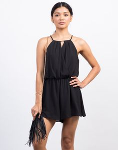 If you don't want to rock a dress to a wedding, then grab this one-piece Chiffon Crossover Romper. Pair this pretty romper with some lace-up heels and accessorize lightly to stun the crowd away.
