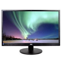 23.6 AOC M2470SWH HDMI-VGA-DisplayPort 1080p Widescreen LED LCD Monitor w-Speakers (Black)