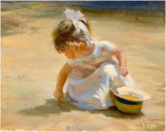SAND PLAY, painting,