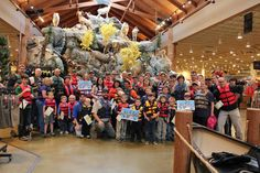 Cabela's in Post Falls lured 58 humans and one dog to don lifejackets on May  21 to celebrate Ready, Set, Wear It!  (Kristi Blaver)