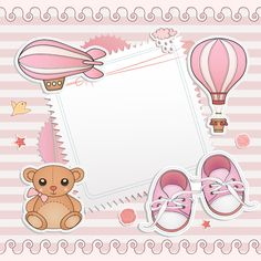 """Photo from album """"Set of baby booties and decorative backgrounds"""" on Yandex. Recuerdos Baby Shower Niña, Tarjetas Baby Shower Niña, Imprimibles Baby Shower, Baby Shower Invitaciones, Baby Shawer, Baby Born, Clipart, Baby Girl Cards, Freebies"""