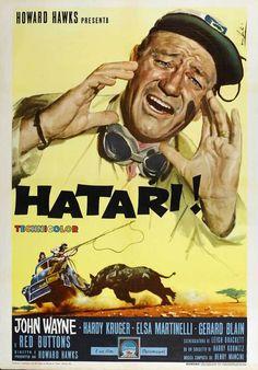 john wayne hatari | hatari movie poster john wayne