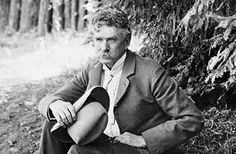 """Ambrose Bierce (born June 24, 1842 - December 26, 1913) is probably best-known for his short story """"An Occurrence at Owl Creek Bridge"""" and his satirical lexicon The Devil's Dictionary. Description from beingpoet.blogspot.com."""