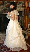Cotton and Lace Gown