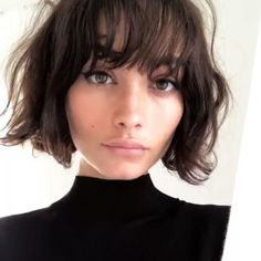 Bob hairstyles are just as on trend as ever, so if you're yet to try one, why not make 2018 your year? From trendy French girl-inspired styles to layered, graduated bobs, see the array of different bob haircut options available here. Ready to join the sho Thin Hair Short Haircuts, Short Hair Cuts, Haircut Short, Layered Haircuts, Curly Haircuts, Short Bob Bangs, Short Bob With Fringe, Blunt Bob With Bangs, Bob Haircut Bangs