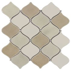 allen roth Bellport Natural Lantern Mosaic Porcelain Wall Tile (Common: x Actual: x Ceramic Mosaic Tile, Mosaic Wall, Glazed Ceramic, Stone Mosaic, Allen Roth, Mosaic Pieces, Before Midnight, Modern Colors, Decorating Kitchen