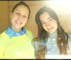 Encantadora y muy profesional! Aquí en el casting de mi marca @sofiaforbesjeansparis con Griselda de @glamoureando