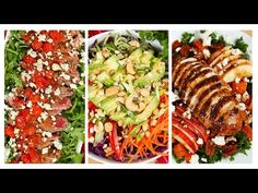 3 Healthy Dinner-Worthy Salads! - YouTube