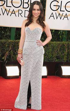 Emilia Clarke in Proenza Schouler. The pattern beautiful. (Golden Globes 2014)