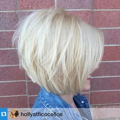 Holly in Blaine did this fun and sassy color and cut. Look at all that body…