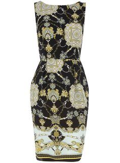 Dorothy Perkins  Multi scarf print pocket dress  Now £26.60