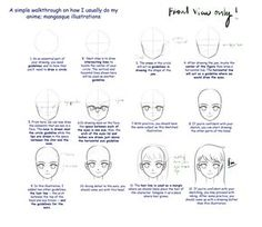 """I promised some people at the bookfair that I would upload a basic manga-face """"turorial"""" or a picture of the proportions I use. Here it it. I will also upload a step-by-step tutorial for manga basi..."""