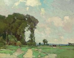 """""""A Summer Day,"""" Chauncey Foster Ryder, oil on canvas, 28 x 36"""", private collection."""