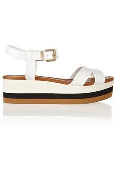 Fendi Hydra PVC wedge sandals   NET-A-PORTER