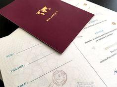 menu passeport mariage theme voyage