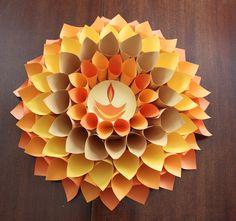 Non-traditional Diwali wreath. adding the diya makes it convincing. Diya Decoration Ideas, Diy Diwali Decorations, Festival Decorations, Stage Decorations, Decor Ideas, Wedding Decorations, Diwali Cards, Diwali Rangoli, Crafts To Make