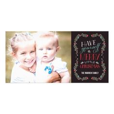Lovely Garlands Holiday Photo Card - Brown  Click on photo to purchase. Check out all current coupon offers and save! http://www.zazzle.com/coupons?rf=238785193994622463&tc=pin #cards #holidays #christmas  #christmascards #photos #photocards #believe #greetings #holidaycards  #xmas #xmascards #greetingcards #personalized #customized
