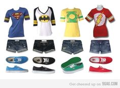 i need these in my closet this moment, i would change the green lantern to thor, captain america, iron man or hulk though